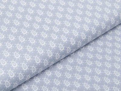 Webware Baumwolle Popeline - Tropfen und Punkte - grau
