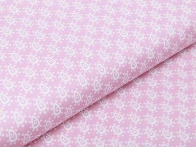 Webware Baumwolle Popeline - Tropfen und Punkte - rosa