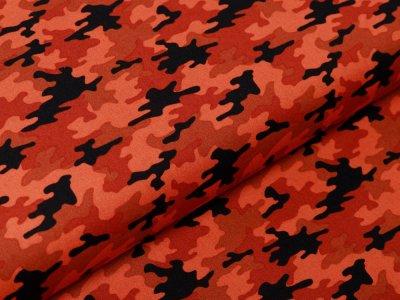 Webware Baumwolle Popeline - Camouflage - orange
