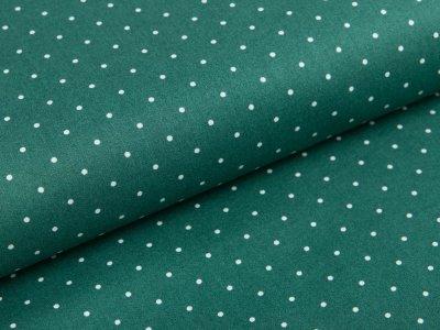 Webware Popeline - unregelmäßige Pünktchen - tannengrün