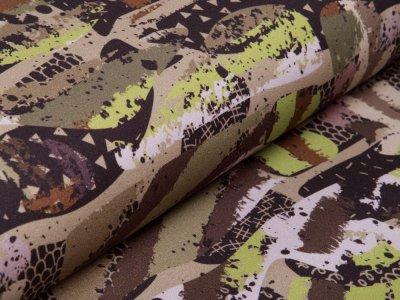 Angerauter Sweat  by Poppy - Camouflage  - grün