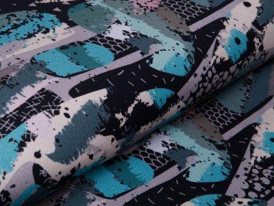 Angerauter Sweat  by Poppy - Camouflage  - schwarz