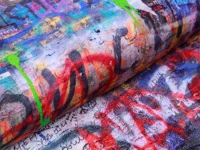 Sweat French Terry PANEL ca. 100 x 150 cm - Graffiti - multicolor