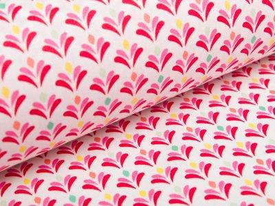 Beschichtete Webware Baumwolle by Poppy - kleine Blumen - weiß