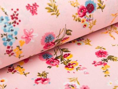 Beschichtete Webware Baumwolle by Poppy - Getreideblumen - rosa