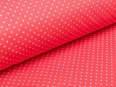 Beschichtete Webware Baumwolle by Poppy - Punkte - helles rot