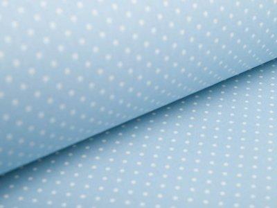 Beschichtete Webware Baumwolle by Poppy - Punkte - helles blau