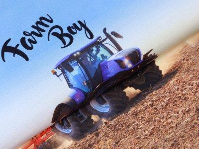 Sweat French Terry PANEL ca. 75 x 150 cm - Farmer Boy - blau