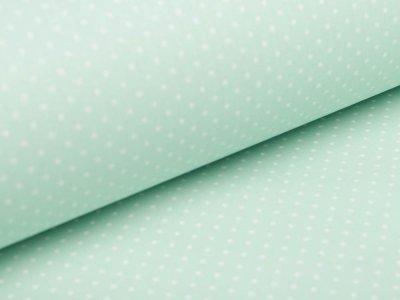 Beschichtete Webware Baumwolle by Poppy - Punkte - mint