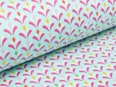 Beschichtete Webware Baumwolle by Poppy - kleine Blumen - helles blau