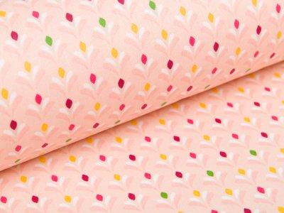 Beschichtete Webware Baumwolle by Poppy - kleine Blumen - helles lachs