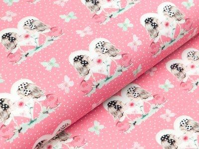 Jersey Eigenproduktion KDS - TWINS - rosa