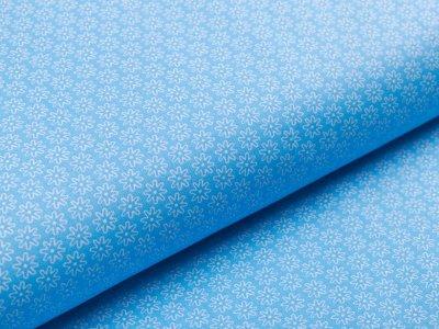 Webware Popeline Baumwolle Daisy - kleine Gänseblümchen - blau