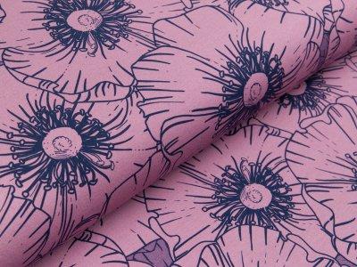 Jersey Eigenproduktion KDS - Flower of life - floral Kombi - flieder