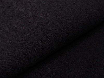 Leicht angerauter Strickstoff Swafing Bene made in Italy - uni schwarz