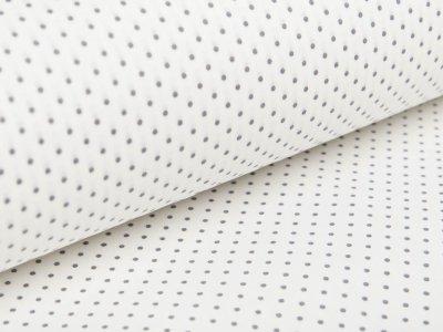 Beschichtete Baumwolle by Poppy - Punkte - weiß