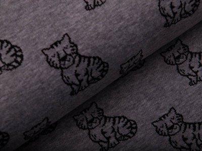 Jacquard - Tiger - meliert grau