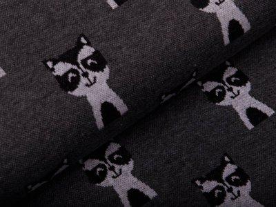 Jacquard - Katzen - grau