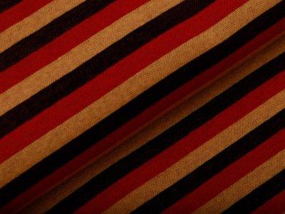 Jacquard - Streifen - rot/gelb/schwarz