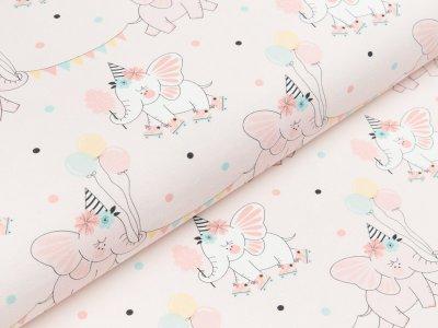 Jersey Eigenproduktion KDS - Fairy Elephant - party - rosa