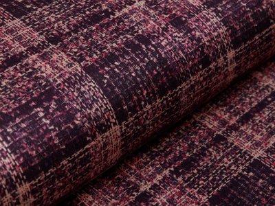 Scuba Suede - Karo-Muster - purple