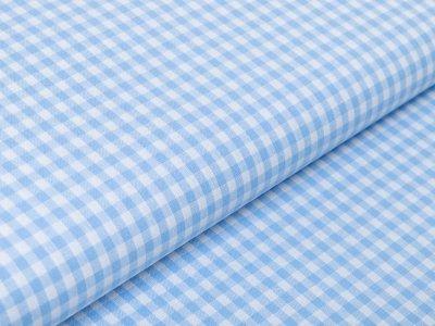 Webware Baumwolle - Karos 5 mm x 5 mm blau