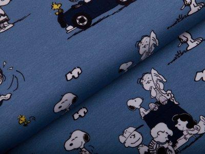 Jersey Peanuts Snoopy - Snoopy mit Cabrio - rauchblau