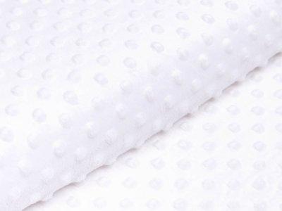 Wellnessfleece Minky mit Noppenprägung - uni weiß