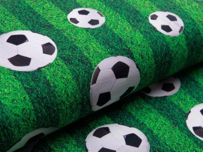 Jersey - Fußbälle auf Rasen - grün