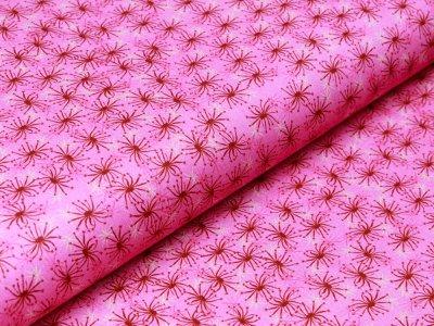 Webware Baumwolle Patchwork - Pusteblumensamen - fuchsia