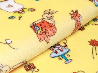 Wellnessfleece Peggy - verschiedene Kinderspielzeuge - gelb