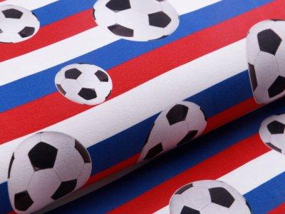 Jersey - Fußbälle auf Niederländischer Flagge - weiß/rot/blau