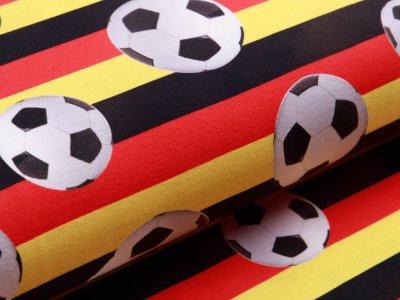 Jersey - Fußbälle auf Deutscher Flagge - schwarz/rot/gelb