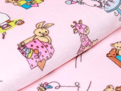 Wellnessfleece Peggy - verschiedene Kinderspielzeuge - rosa
