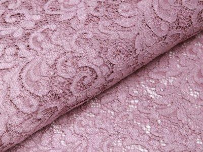 Hochwertige Spitze - Florales-Muster - altrosa