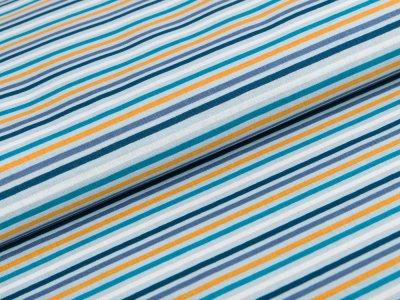 Webware Baumwolle - Streifen - bunt