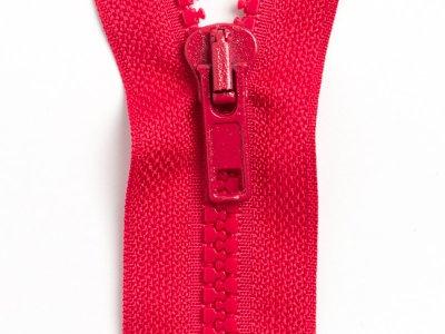Reißverschluss teilbar 80 cm - dunkles rot