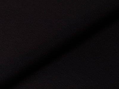 Italienischer Crepé Primula - uni schwarz