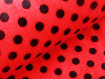 Wellnessfleece Marienkäfer-Punkte - rot/schwarz