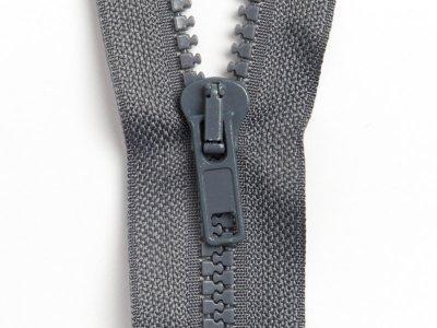 Reißverschluss teilbar 50 cm - dunkles grau