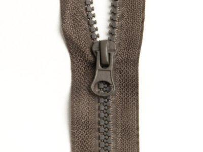 Reißverschluss teilbar 70 cm - dunkles braun