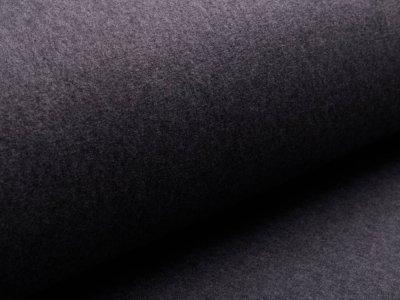 Baumwollfleece - uni dunkelgrau
