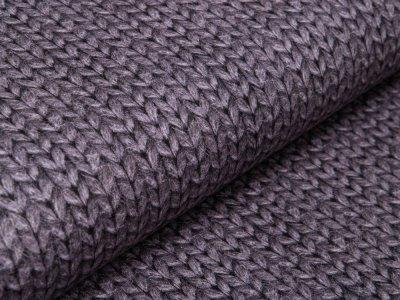 Leicht Angerauter Sweat Digitaldruck by Poppy - Strickoptik - dunkles grau
