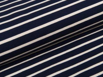 Jersey - Streifen - blau/grau