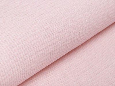 Strickstoff Soft Waffle - Waffeloptik - zartes rosa