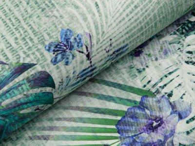 Jersey Digitaldruck Stenzo - traumhaftes Blütenmuster - grün