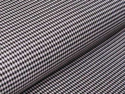 Gewebter Baumwollstoff Pied De Poule - Hahnentritt - schwarz/weiß