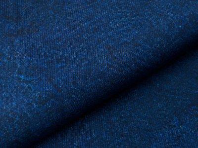 Softshell Jackenstoff Digitaldruck by Poppy - Denim-Optik - indigo