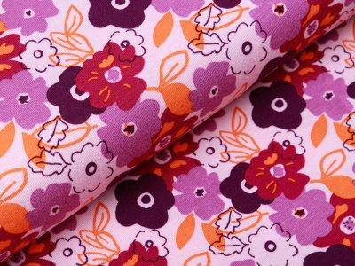 Jersey Viskose Digitaldruck Stenzo - Blumen - helles rosa