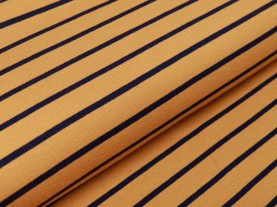 Sweat French Terry Yarn Dyed by Poppy - Streifen - ocker